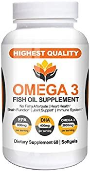 Me First Living Omega 3 Fish Oil (Burpless, 60 Capsules)