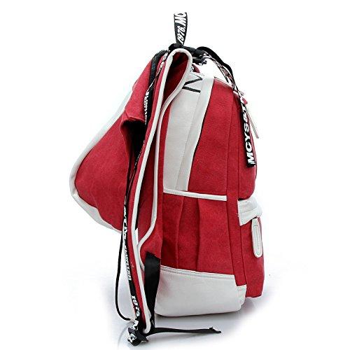 CLCOOL Bergsteigen-TascheWandern rucksack outdoor Klettern Bergsteigen Reisen Camping wasserdichte Unisex Multifunktions Taschen , rot