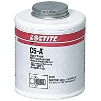 Loctite 51005 Copper LB 8008 C5-A Anti-Seize Lubricant, -20 Degree F Lower Temperature Rating to 1800 Degree F Upper Temperature Rating, 10 fl. oz. Brush Top Can