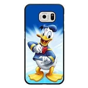 Samsung Galaxy S6 Edge Case, Customized Disney Donald Duck Black Hard Shell Samsung Galaxy S6 Edge Case, Donald Duck Galaxy S6 Edge Case(Only Fit for Galaxy S6 Edge)