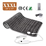 Heating Pad, Ultra-Large Heating Pads for Back Pain Auto Shut Off, Fast Heating