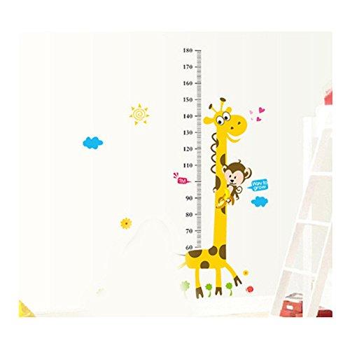 Jipai(TM) Autocollant Sticker Mural Enfants Toise Hauteur Taille Croissance de Mesure Tableau Règle Décoration Chambre Dessin Animé