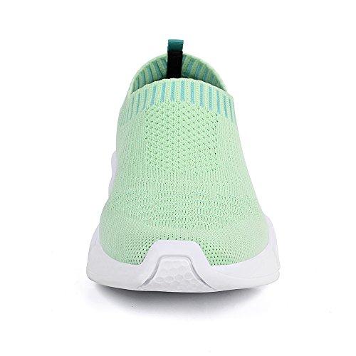 Mxson Kvinners Skli På Sneaker Mesh Dagdriver Uformell Strand Street Sports Spasersko (ny Størrelse Versjon) Grønn