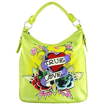 Amazon.com   Ed Hardy Ingrid Hobo Bag - Lime Green   Handbag   Everything  Else 44ad83eed8cd1