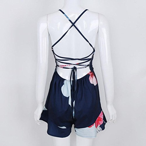 DIKEWANG Blanc blanc Jumpsuit Marine au pour S Bleu porté femme main à Sac Women dos vrZPwCqnv
