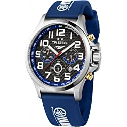 TW Steel Yamaha Factory Chronograph Racing Blue Silicone Mens Watch TW927