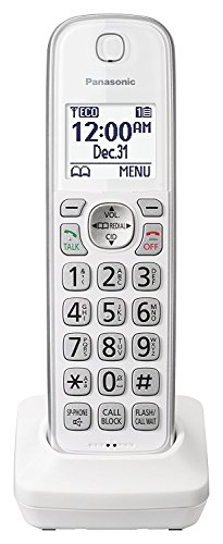 - Panasonic KX-TGDA50W1 Dect 6.0 Digital Additional Cordless White Handset for KX-TGD53x Series (Renewed)