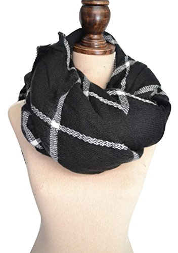 Ancia Women Tartan Scarf Stole Plaid Blanket Checked Scarves Wraps Shawl