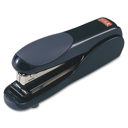 MAX Flat Clinch Standard Stapler - Desktop Stapler - 30 Sheets Capacity - 210 Staple Capacity - 1/4'' Staple Size - Black - Sold as 1 / Each