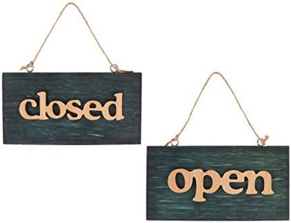 NUOBESTY 2ピース木製オープンクローズドサインぶら下げオープンドアサインクローズショップタグボードオープンクローズプラー
