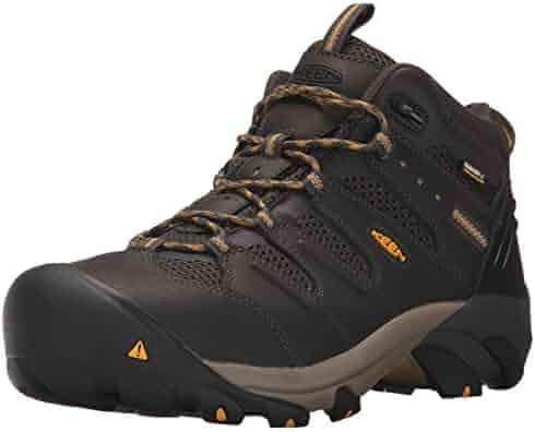 KEEN Utility Men's Lansing Mid Waterproof (Steel Toe) Industrial Boot