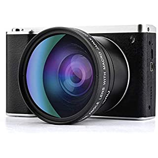 Digital Camera,Vlogging Camera 4.0 Inch Touch Monitor 24MP FHD 1080P Wide Angle Lens YouTube Camera 8X Digital Zoom Camera with Flash Microphone (X7)
