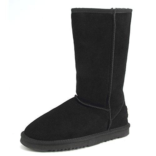 Calf Boots tall AUSLAND Resistant Snow Classic Leather Mid 5125 Women's Black Water 1qZFqwOa