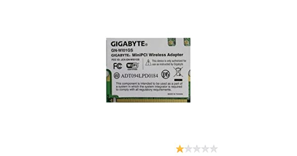 GIGABYTE GN-W101GS TREIBER WINDOWS 7