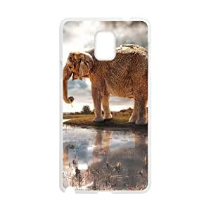 Durable Material Phone Case With Elephant Image On The Back For Samsung Galaxy Note 4