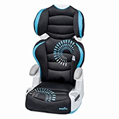 The Evenflo Big Kid Amp Booster Car Seat gets your child excited about sitting in a booster seat! With 6 height positions, the back adjusts as your child grows, keeping the side and head support in the proper position. It also transitions int...