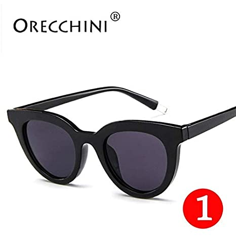 Amazon.com : Hot Women Black Vintage Sunglassess Small Frame ...