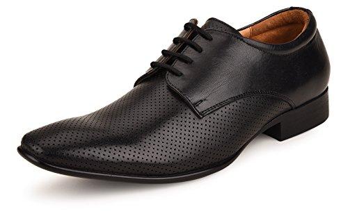 Escaro New York Genuine Leather Formal Derby Shoes for Men Black