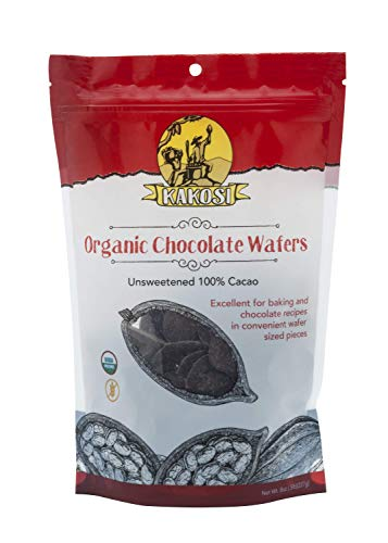 (Kakosi Organic Unsweetened Chocolate Wafers 8 ounce)