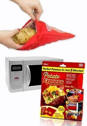 Potato Express - Bolsa para cocer patatas en el microondas: Amazon ...