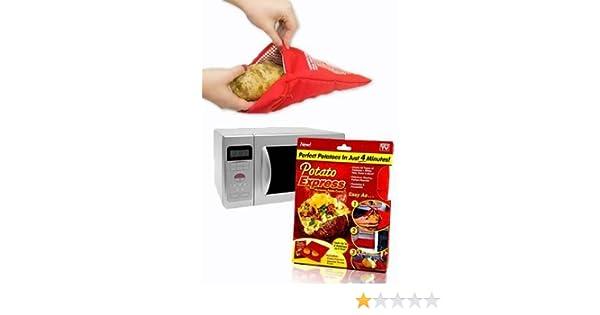 Potato Express - Bolsa para cocer patatas en el microondas ...
