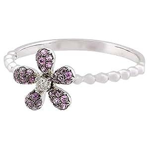 365LOVE Women's 18K White Gold Ring - Size US 5.5