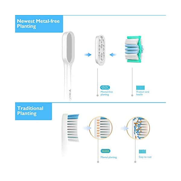 Têtes de brosse de rechange pour Philips Sonicare Electrique Brosse à dents【High-Densité et sans métal Technique】pour…