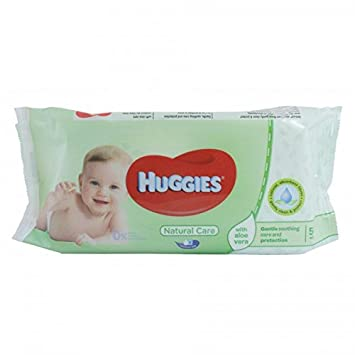 HUGGIES Natural Care - Toallitas con Aloe Vera 56 STK: Amazon.es: Belleza