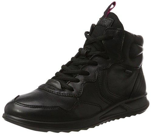 Hautes Genna Femme Black Noir Baskets Noir Ecco wpEzZq8w