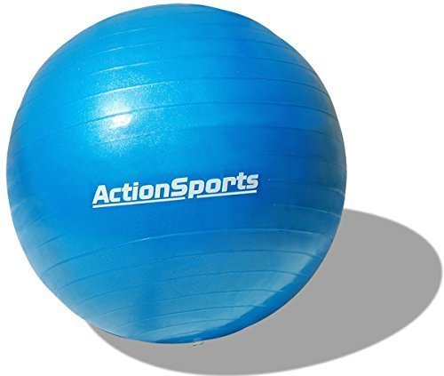 Action Sports Anti-burst Exercise Stability Ball with Pump (Blue (55 cm))