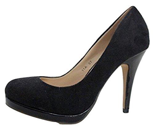 flyfoz , Escarpins pour femme Noir noir - Noir - noir, 36