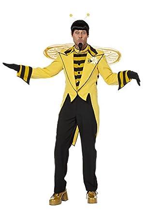Biene Kostum Herrenkostume Herren Karneval Fasching Jacke Schwarz