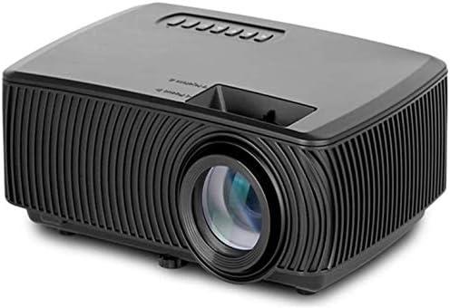 赤外線リモコン付きホームポータブルプロジェクター、同じ画面マイクロLEDプロジェクター付き携帯電話、サポート1080pのHDプロジェクション、LCD技術、1200のルーメン、ブラック、色:ブラック (Color : Black)