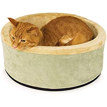K&H Manufacturing Thermo-Kitty Heated Pet Bed, Sage, Small