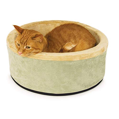 K&H Pet Products Thermo-Kitty Heated Pet Bed, Sage, Small