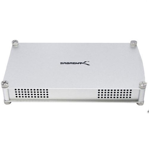 Sabrent ECS-STU35 USB 2.0 to 3.5-inch IDE/SATA or Serial ATA Aluminum Hard Drive Enclosure Case ()