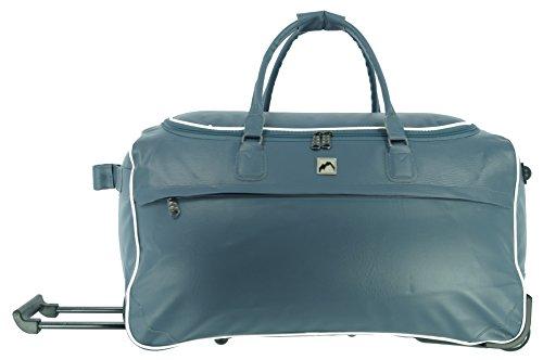 XL Trolleytasche Reisetasche Colombus Farbe Grau-blau aus PU Leder Sport Freizeit Wochenendreisen Reisetrolley Trolley Tasche Unisex Case Fa. Bowatex