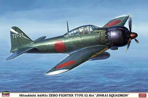 Fighter A6m5c Zero - Mitsubishi A6M5c Zero Fighter Type 52 Hei 'Jinrai Squadron' 1/32 Scale