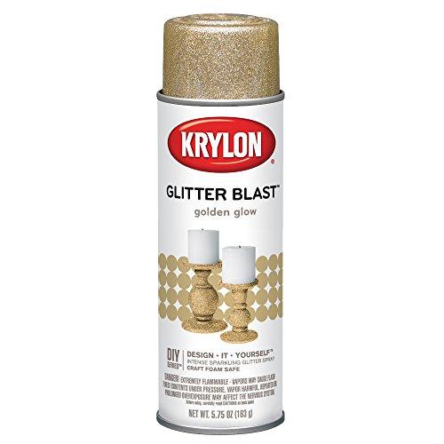 Krylon K03801A00 Glitter Blast, Golden Glow, 5.75 Ounce ()