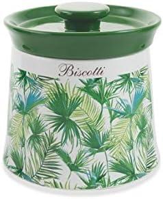 Galileo Casa Biscottiera Ceramica Verde