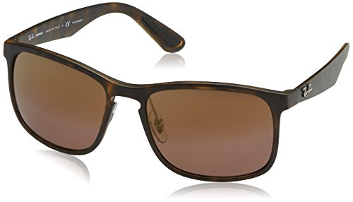Ray-Ban RB4264 Chromance Lens Square Sunglasses, Tortoise Frame/Brown Mirror Lens - Polarized Ray Chromance Ban