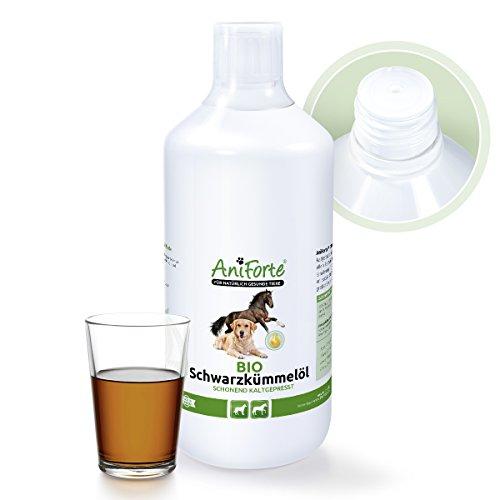 AniForte Ägyptisches BIO-Schwarzkümmelöl 1 Liter- Naturprodukt für Hunde und Pferd