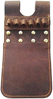 Weatlake Cow Leather Archery Arrow Quiver Pocket Holder Pouch Bag Side Hip Belt Waist Brown