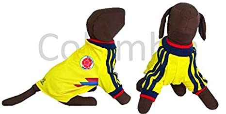 Colombia DOG T-Shirt Worldcup Shirt (XXL)
