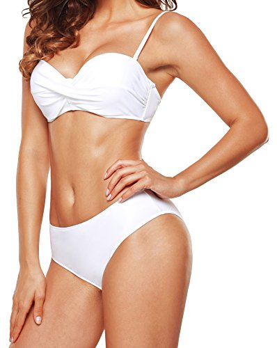 - UniSweet Bikini Push Up Swimwear Bathing Suit Retro Vintage Underwire Swimsuit