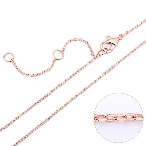 Wholesale 6 PCS 14K Rose Gold Plated Brass Cable O Chain Necklace Thin Dainty Finished Chain Bulk for Jewelry Making