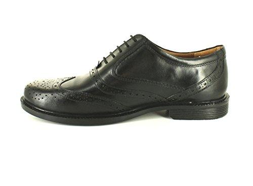 Hombre / Negro Hombre Con Alas Puntera Brouge Zapatos Estilo Corte Ancho Negro - GB Tallas 6-12