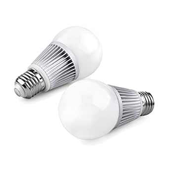 (Pack of 2, Warm White) Sunthin 7W E26 12V A19 LED Bulb Light, 600lm, 60 Watt Incandescent Bulbs Replacement, Solar Battery Powered LED Bulbs, Off Grid LED Bulbs (7 Watts)