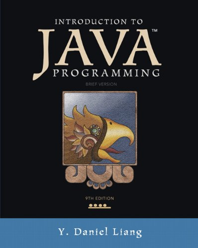 Introduction to Java Programming, Brief Version (9th Edition) by Prentice Hall