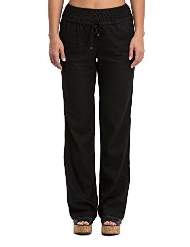 Womens Linen Drawstring Pants - 2